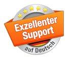 Hervorragender Support auf deutsch