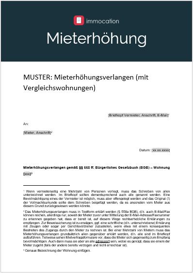 Mieterhohung Modernisierung Musterbrief Zum Download